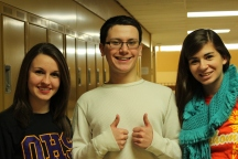 Seniors Ashley Cook, Jake Blersch, and Alesha Hollatz, are this years directors and stage manager.